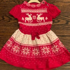 Ralph Lauren Reindeer knit sweater dress. 2T
